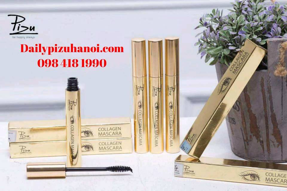 Chuốt mi Collagen Mascara Pizu