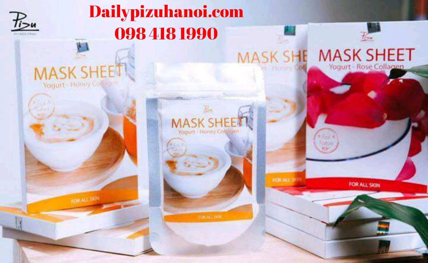 Mặt nạ sữa chua mật ong Pizu, Mask Sheet Yogurt - Honey Collagen